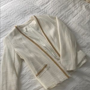 Aqua - Cream Blazer with Gold Trim